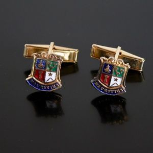 Rare Coat of Arms of Mauritius Shield Cufflinks